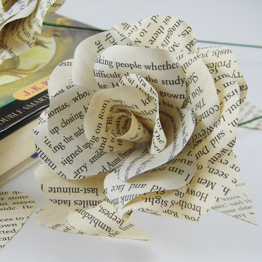 Harry potter book page paper flower handmade flower weared crafts harry potter book page paper flower handmade flower mightylinksfo