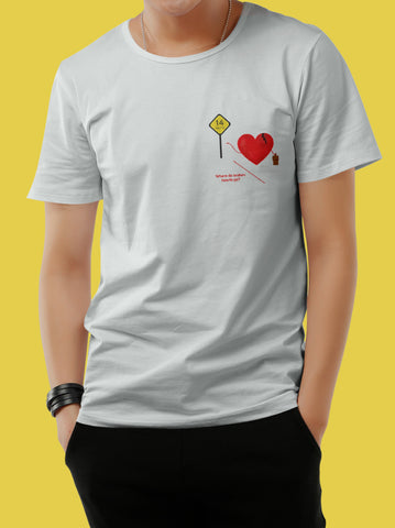 Playera Where do broken Hearts Go? para Hombre