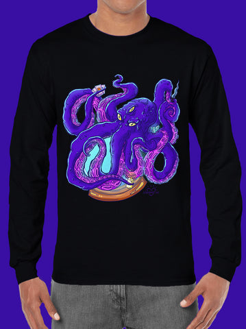 Playera Manga Larga Magic Octopus para Hombre - UrbanHangers