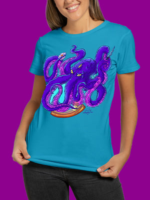 Playera Magic Octopus para Mujer - UrbanHangers