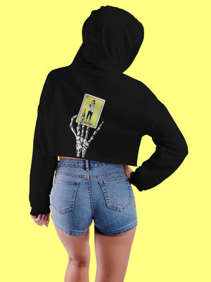 Hoodie Lotería Cropped Mujer