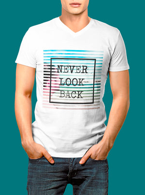 Playera Never Look Back para Hombre - UrbanHangers