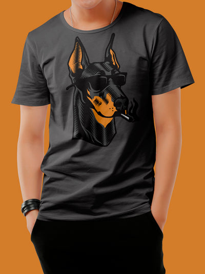Playera Smoking Dog para Hombre - UrbanHangers