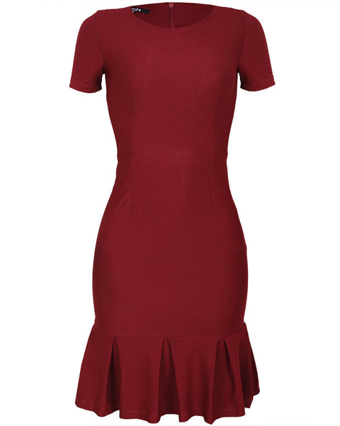 Inighi Peplum Hem Pencil Dress
