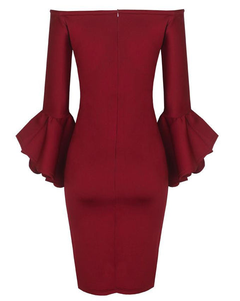 Inighi Tapered Bell-Sleeve Dress (More Colors Available) - INIGHI