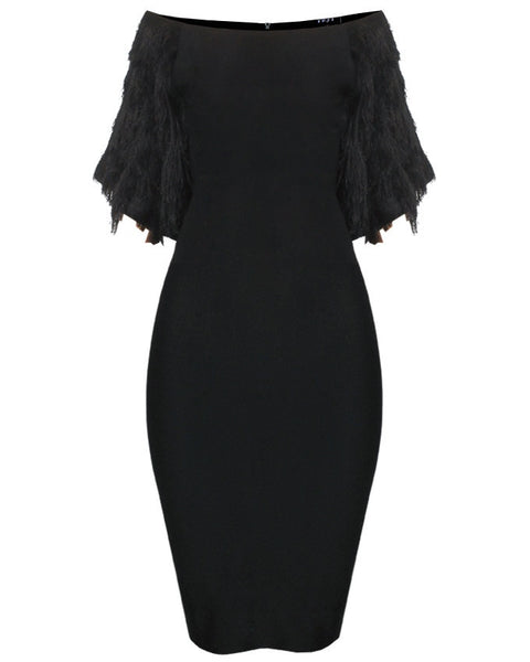 Inighi Fringe Hand Midi Dress