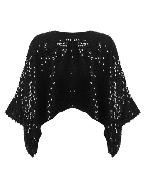 Inighi Sequined Cape Top - INIGHI
