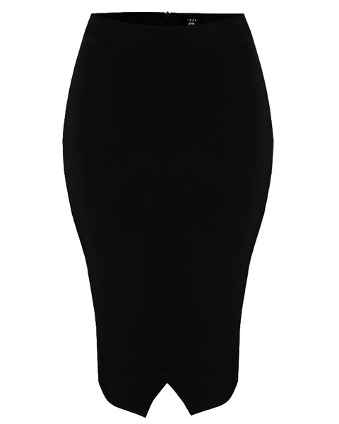 Inighi Frontal Slit Detail Skirt - Black (Pre-Order Only)