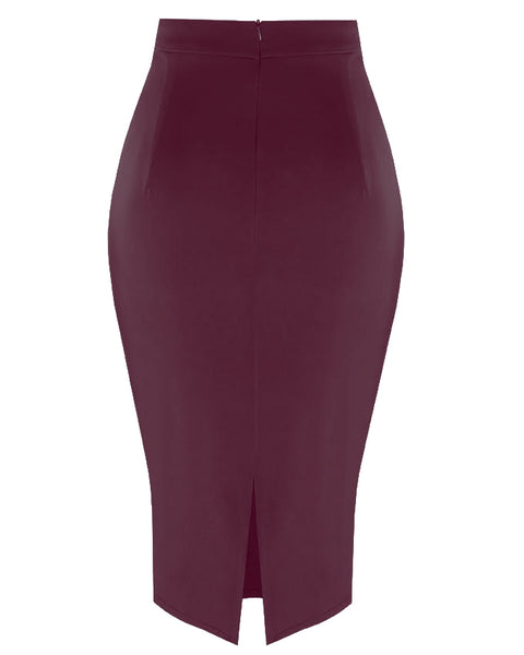 Inighi Frontal Slit Detail Skirt - Purple (Pre-Order Only)