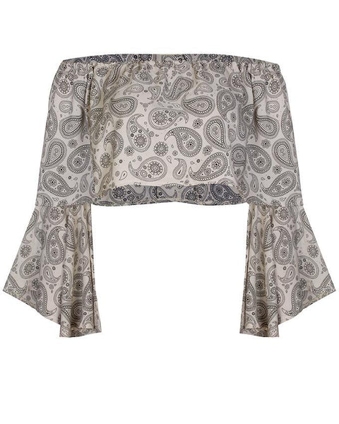 Inighi Off-Shoulder Bell Sleeve Blouse