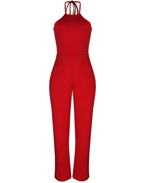 Inighi Back-Tie Halter Neck Jumpsuit