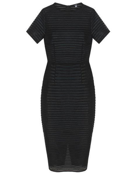Inighi Black Lace Pencil Dress