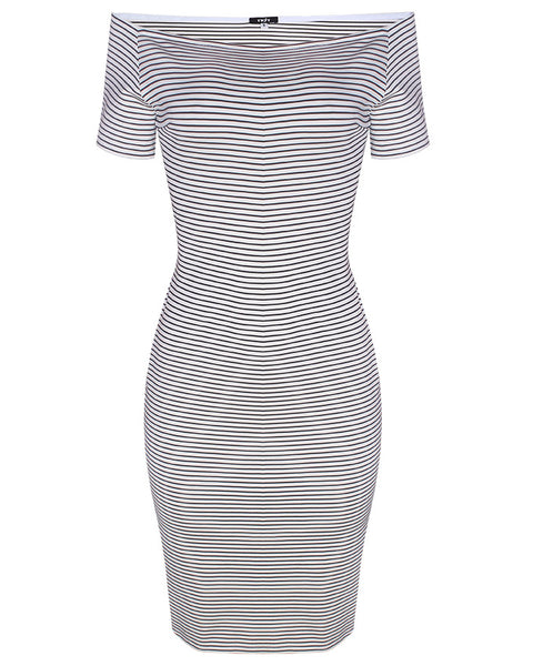 Inighi Bodycon Stripped Midi Dress