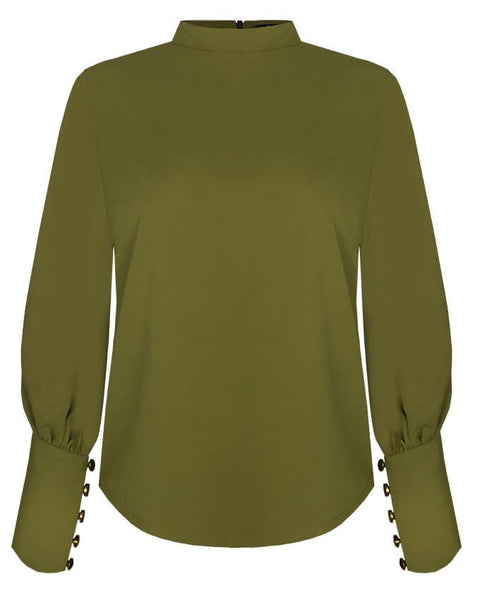 Inighi Bubble Sleeve Top - Chartreuse Green (Pre-Order Only)
