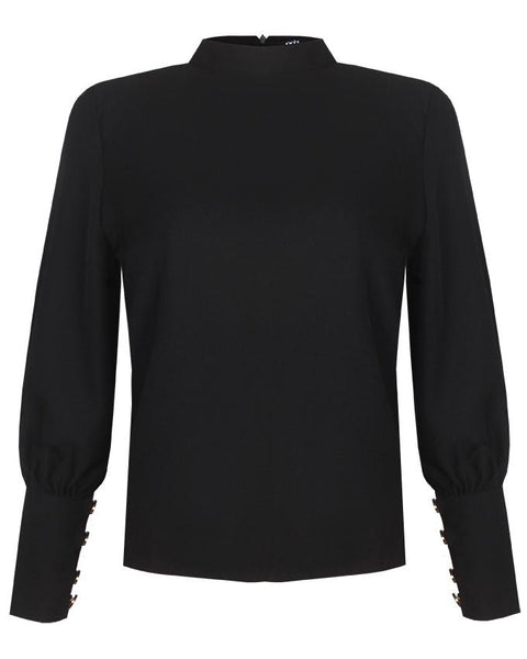 Inighi Bubble Sleeve Top - Black