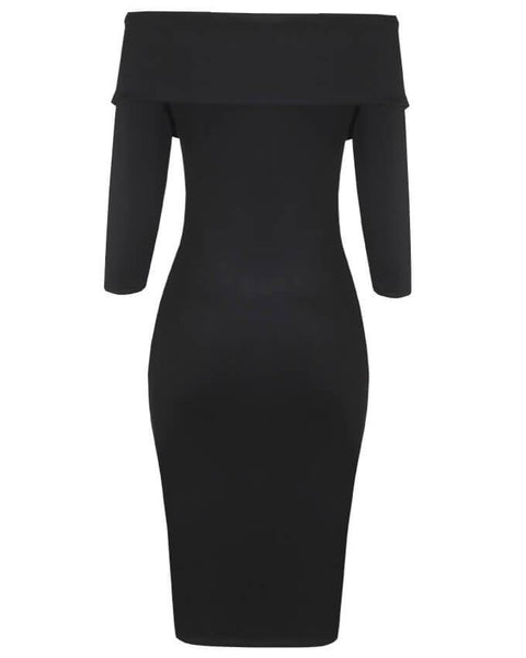 Inighi Collared Side Chain Zip Dress