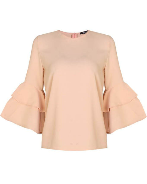 Inighi Dual Layered Sleeves Top -Blonde Orange