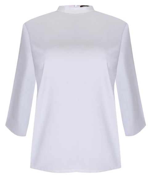 Inighi High Neck Basic Top -Pure White (Not available for express delivery)