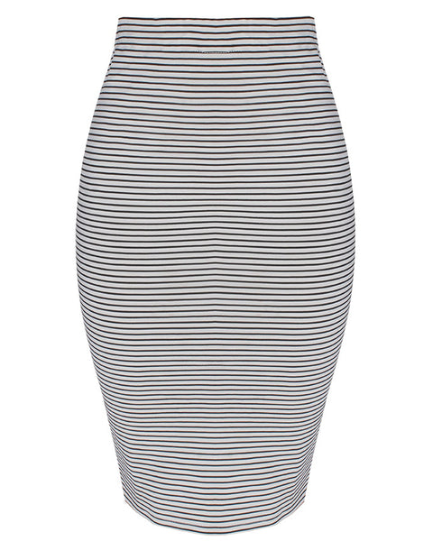Inighi Stripped Elastic Waist Skirt