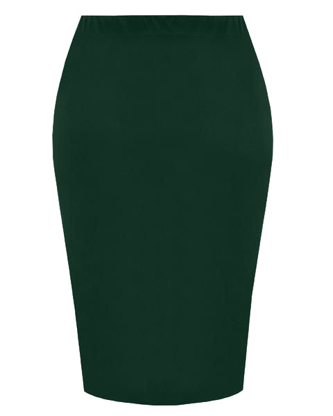 Inighi Elastic Waist Skirt- Forest Green