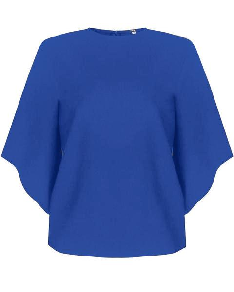 Inighi Full Tapered Sleeves Top - Royal Blue (Not available for express delivery)