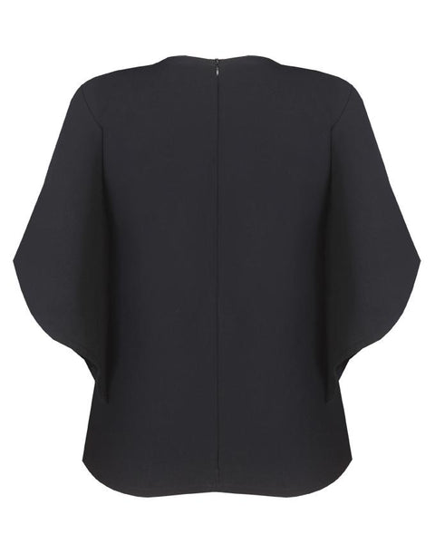 Inighi Full Tapered Sleeves Top - Black