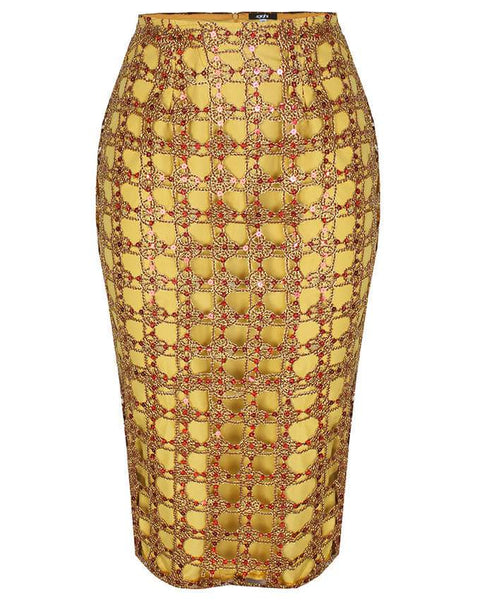 Inighi Golden Lace Skirt