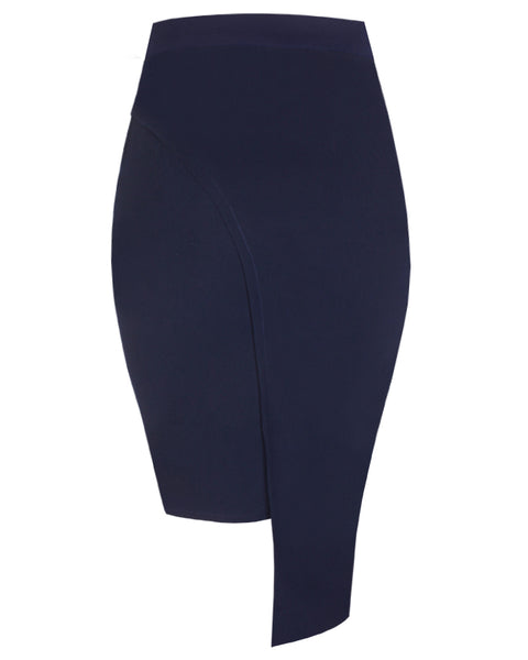 Inighi High-Low Overlap Skirt - Navy