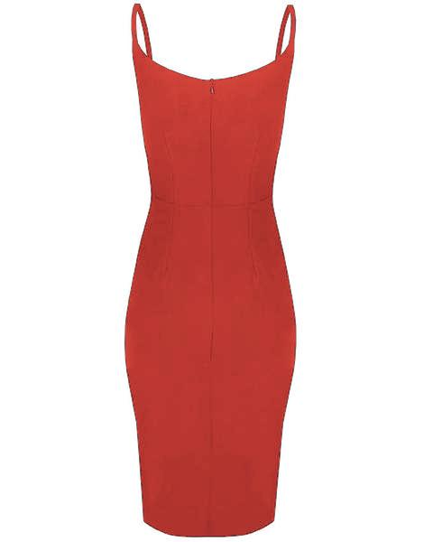 Inighi High-Low Semi Wrap Dress - Candy Red