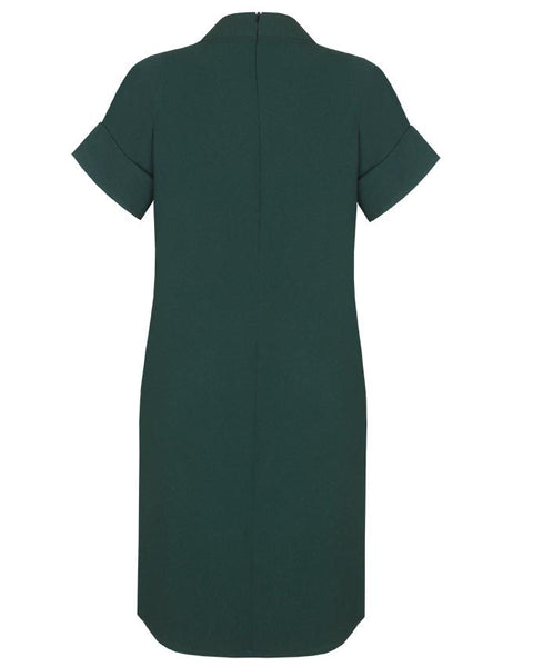 Inighi High Neck Shift Dress - Green