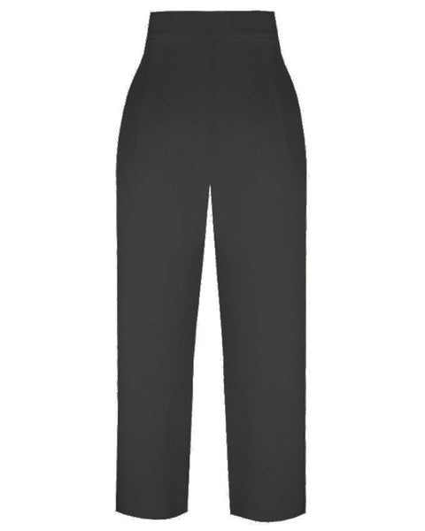 Inighi High Waist Wide Leg Trousers - Black