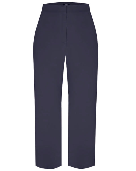 Inighi High Waist Wide Leg Trousers - Navy