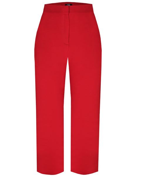 Inighi High Waist Wide Leg Trousers - Red
