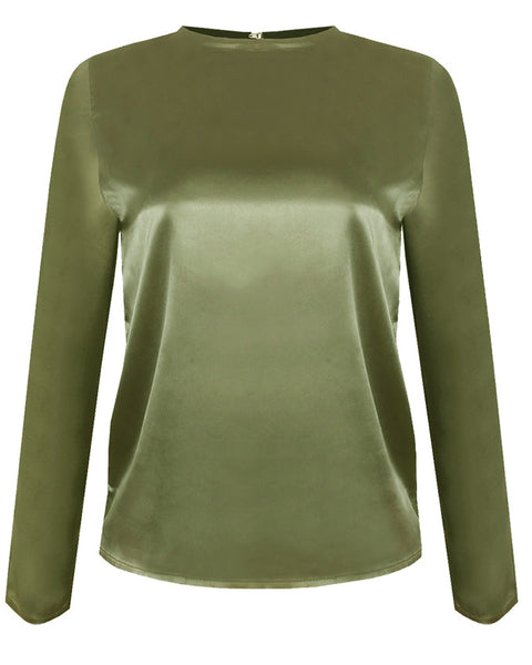 Inighi Long Sleeved Silk Top