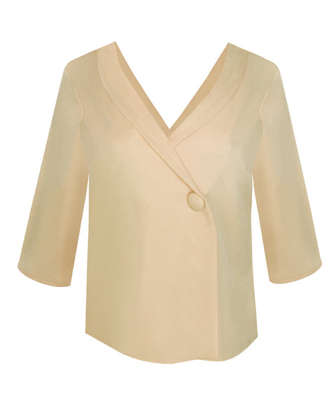 Inighi Loose Fit Collared Blouse - Blonde (Pre - Order Only)