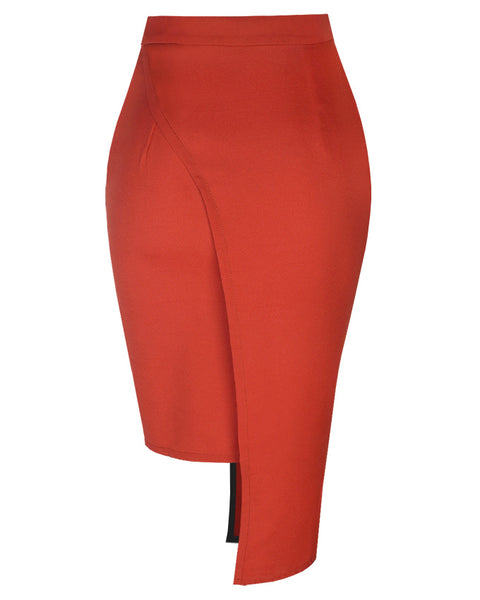 Inighi High-Low Overlap Skirt - Orange