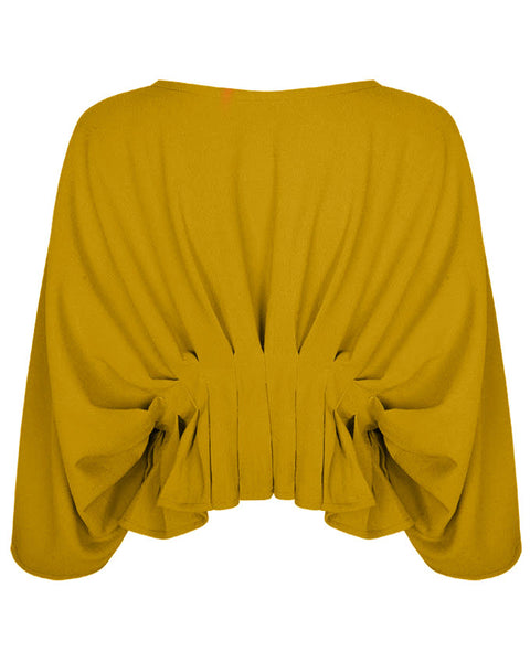 Inighi Oversized Pleated Top -Yellow