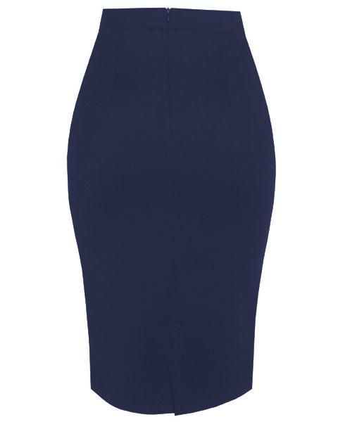 Inighi Pencil Skirt - Navy Blue