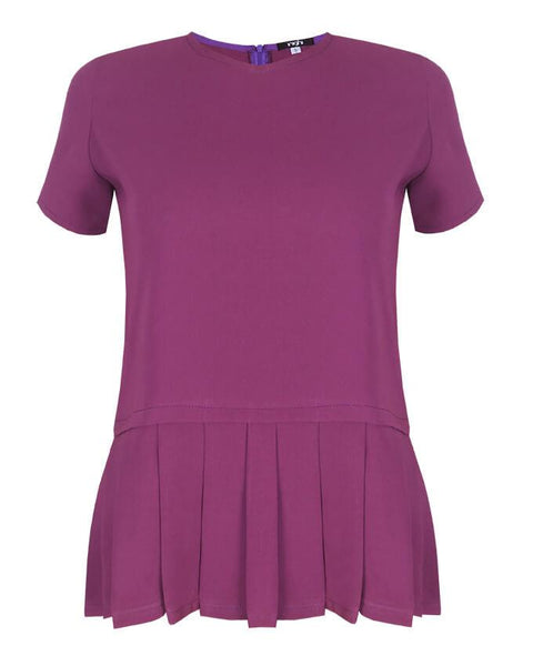 Inighi Pleat Hem Top -Purple  (Not available for express delivery)