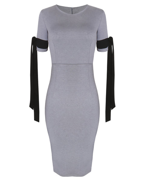Inighi Ribbon Detail Dress - Grey (Pre -  Order Only)