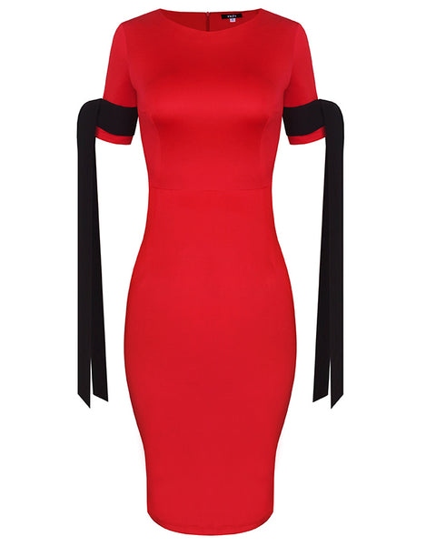 Inighi Ribbon Detail Dress - Red