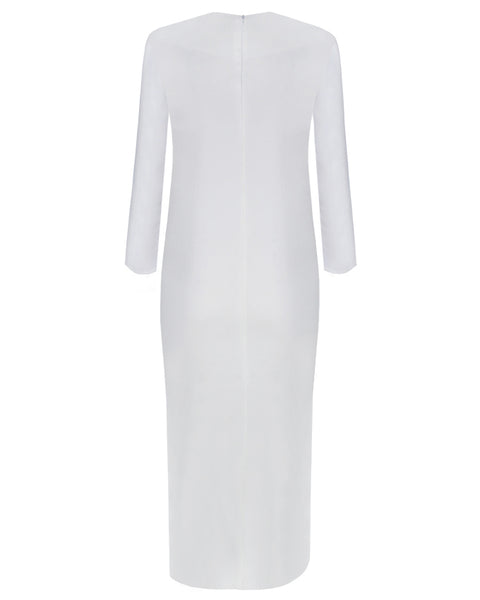 Inighi Side Slit Maxi Top - White  (Pre - Order Only)