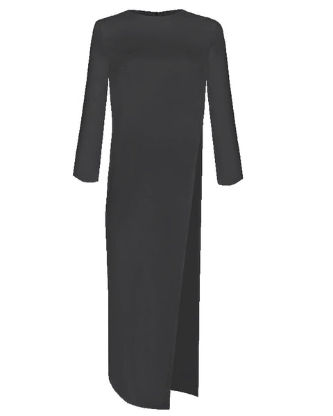 Inighi Side Slit Maxi Top - Black  (Pre - Order Only)