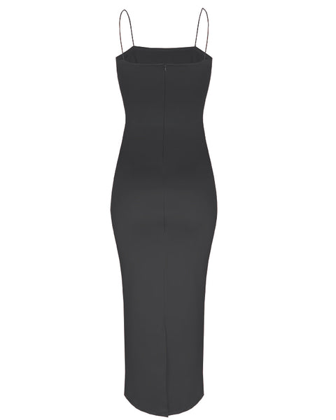 Inighi Spaghetti Pencil Dress - Black (Pre - Order Only)