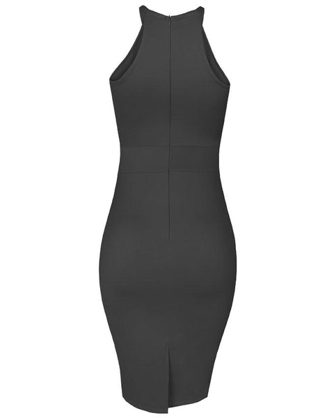 Inighi Spaghetti Pencil Dress - Pitch Black (Pre-Order Only)