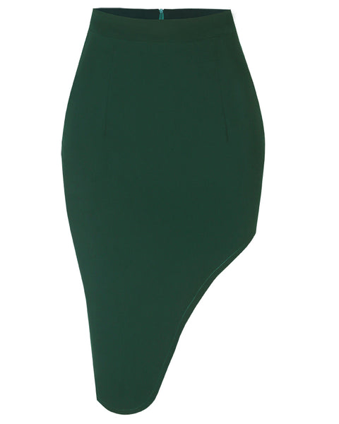 Inighi Thigh Split Skirt - Green