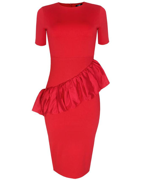 Inighi Waist Frills Pencil Dress (Not available for express delivery)