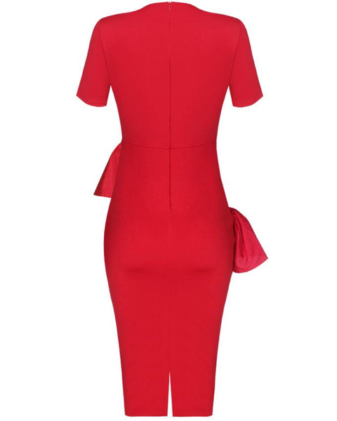 Inighi Waist Frills Pencil Dress