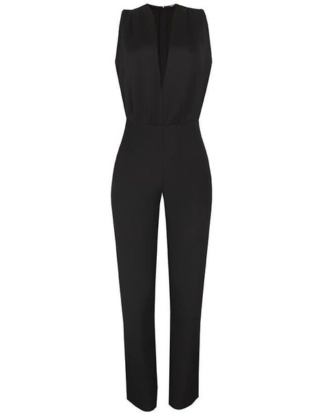 Inighi Plunged Neck Jumpsuit - INIGHI