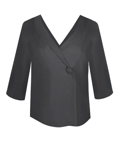 Inighi Loose Fit Collared Blouse - Black (Pre - Order Only)